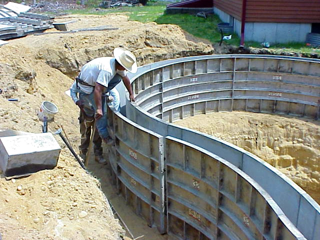 Swimming pool construction products for Swimming pool construction company