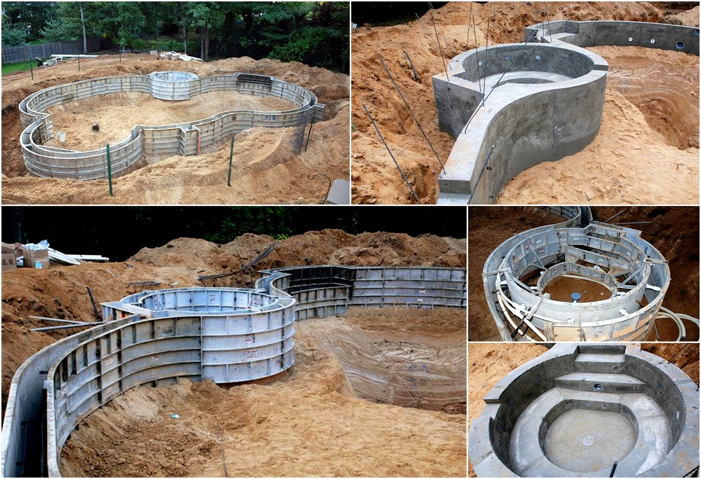 swimming pool forming systems