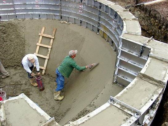 All concrete swimming pool construction process for Concrete pool construction