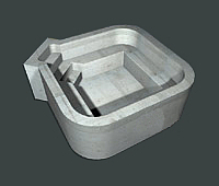Square Hot Tub with Seat & Steps